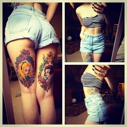 unique tattooed woman