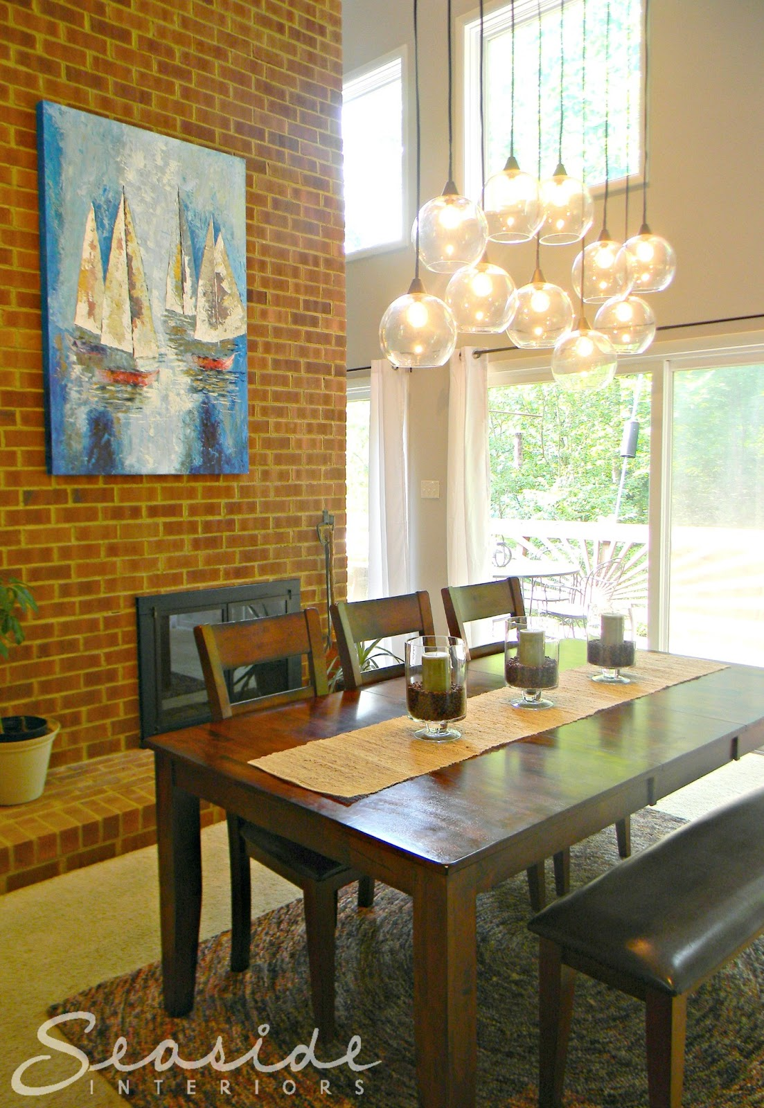 Astounding Seaside Interiors Dining Room Design Makeover Using The Cb2 Caraccident5 Cool Chair Designs And Ideas Caraccident5Info