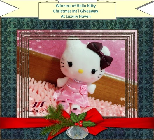 luxury haven hello kitty christmas giveaway winners