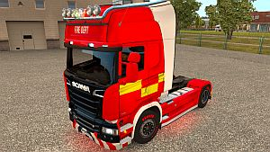 UK Fire paint job for Scania Streamline