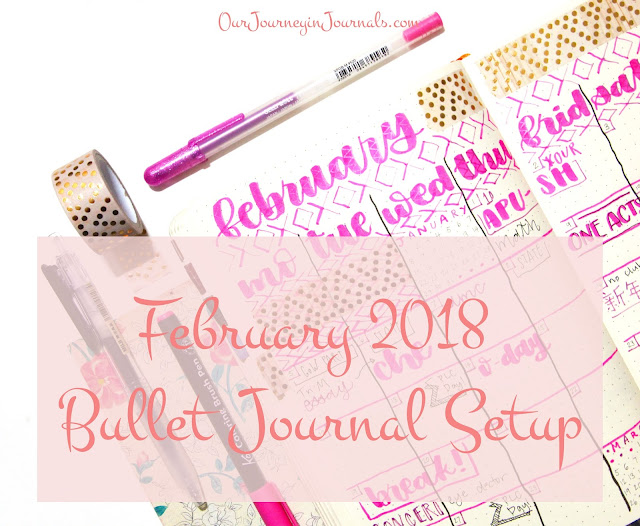 February 2018 Bullet Journal Setup