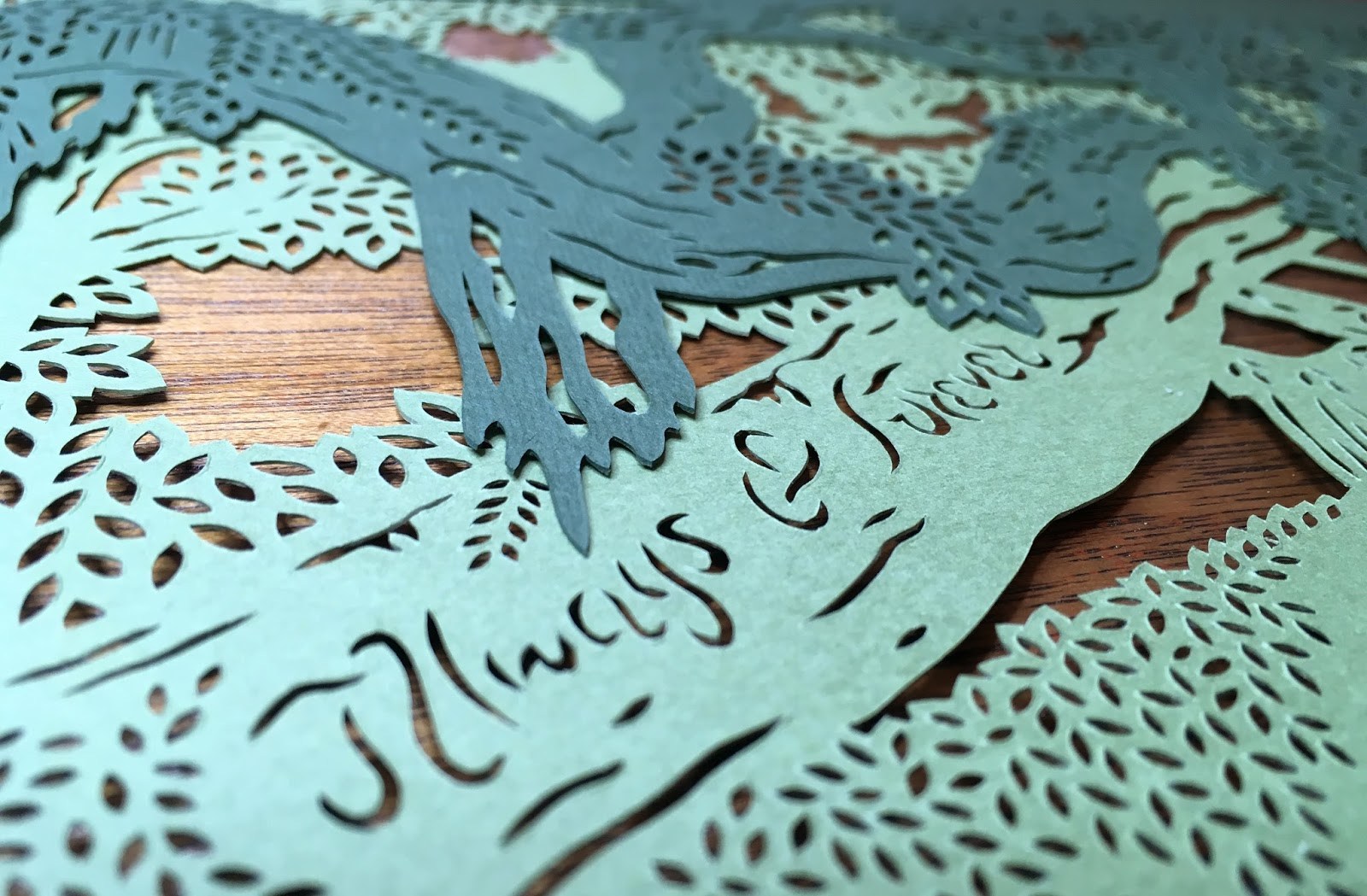 A detail shot of the custom design papercut ketubah by Naomi Shiek. Created for a Jewish wedding.