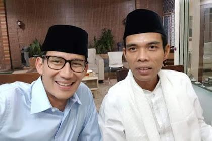 Foto UAS - SANDI, Warganet: Insya Allah Kalau Sudah Begini Kelar Deh 2019 Ganti Presiden