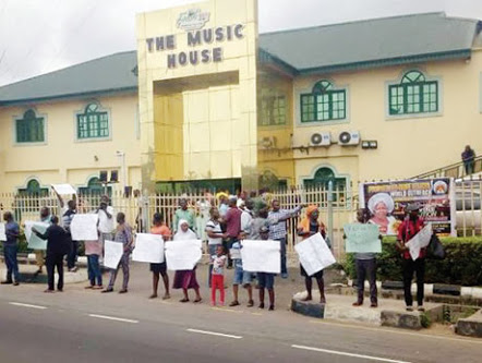 Ayefele fans, workers protest planned demolition of radio station