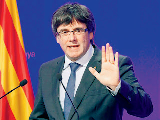 The leader of Catalonia, Carles Puigdemont