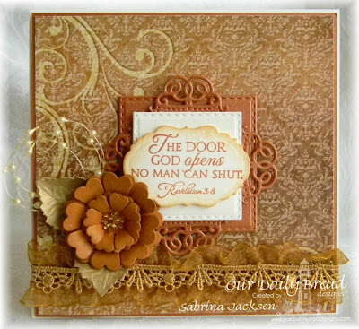 Our Daily Bread Designs Stamp Set: Key To Happiness, Our Daily Bread Designs Custom Dies: Double Stitched Squares, Pretty Posies, Vintage Lables, Vintage Flourish Pattern, Our Daily Bread Designs Paper Collection: Winter 2014