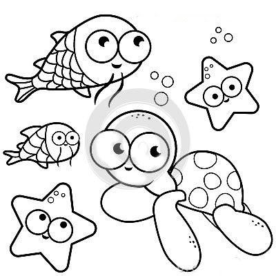 Ba da web desenhos fundo do mar para colorir for Pesciolini da colorare e stampare