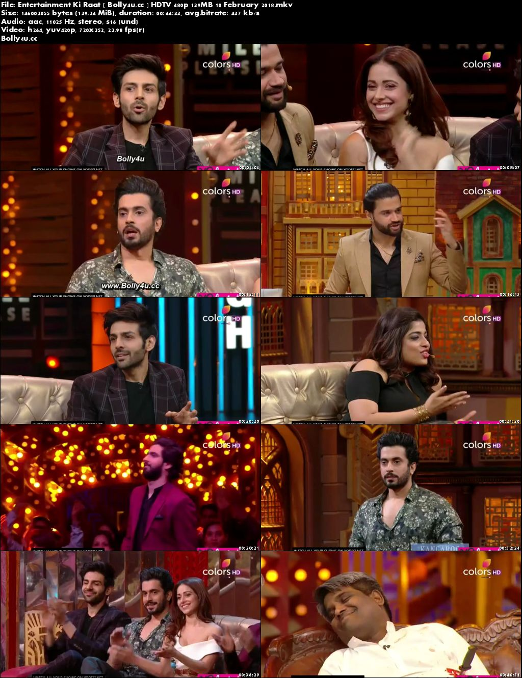 Entertainment Ki Raat HDTV 480p 140MB 10 February 2018 Download