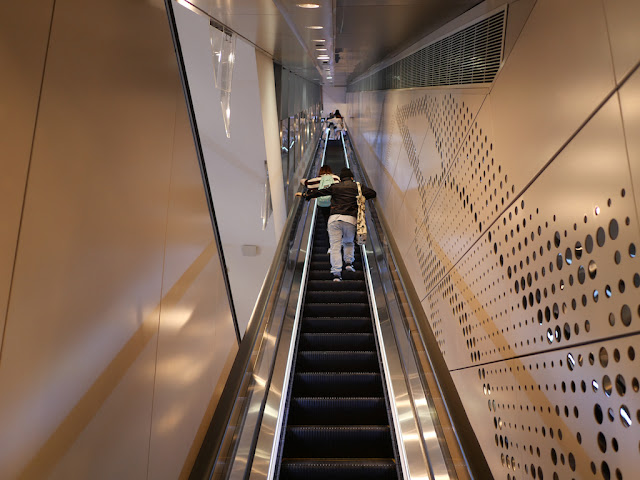 Multistory escalator in Hysan Place