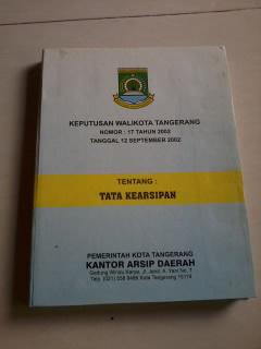 Daftar Klasifikasi Kearsipan Salinan Menteri Dalam Negeri Republik Indonesia Peraturan Alat Peraga Administrasi Perkantoran Mei 2013