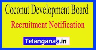 Coconut Development Board Recruitment Notification 2017