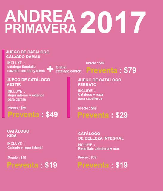 Catalogos Andrea 2017 Preventa primavera