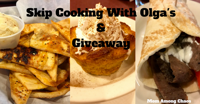 Skip Cooking with Olga's & Giveaway, Olga's, Metro Detroit, Mom, mommy