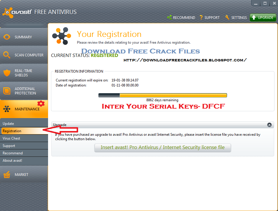 avast crack key