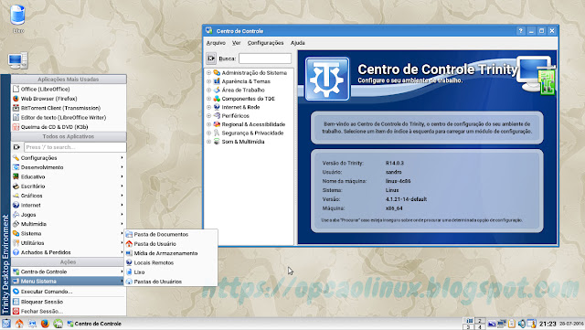 Trinity Desktop no openSUSE Leap 42.1