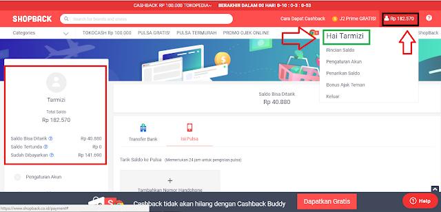 Cara Mudah Mendaftar ke Shopback dan Dapat Cashback Rp.45.000