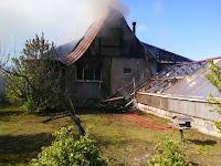 (ФОТО) Пожар в село Светлое