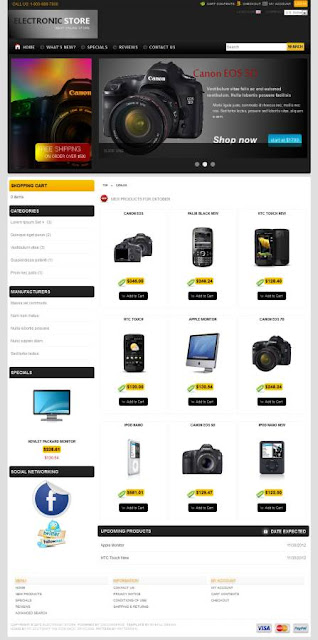 osCommerce 2.3.3 Template for Electronic Store
