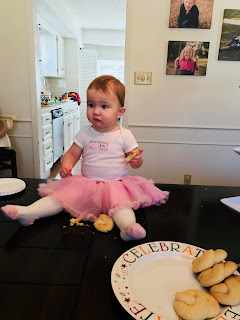Goddaughter Finley with Birthday Kringla