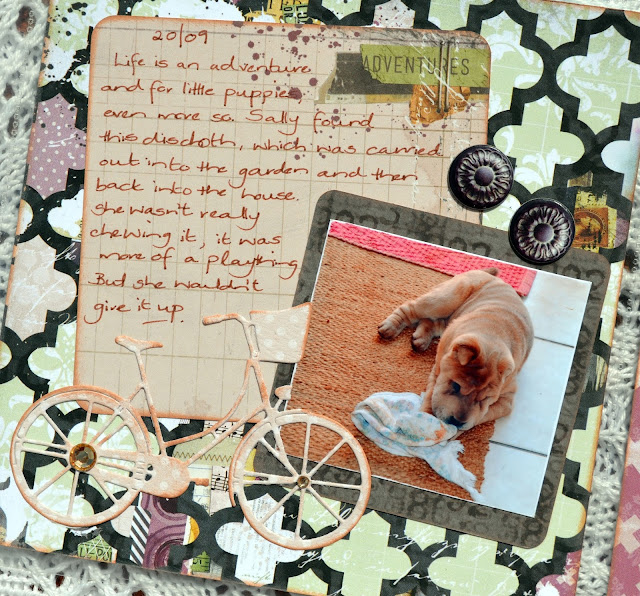 Misc.Me 12x12 Spreads by Denise van Deventer using BoBunny Beautiful Dreamer Collection and Bike Ride Die-cut
