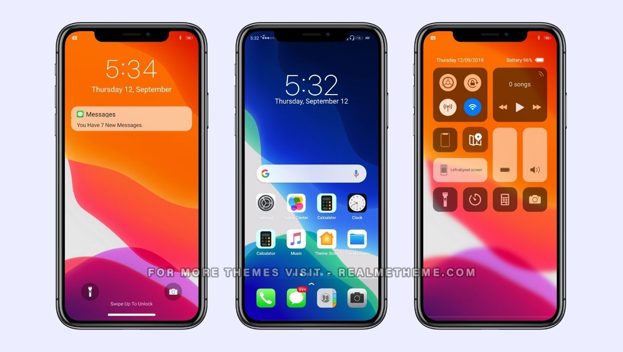 iOS 13 Theme for Realme Devices
