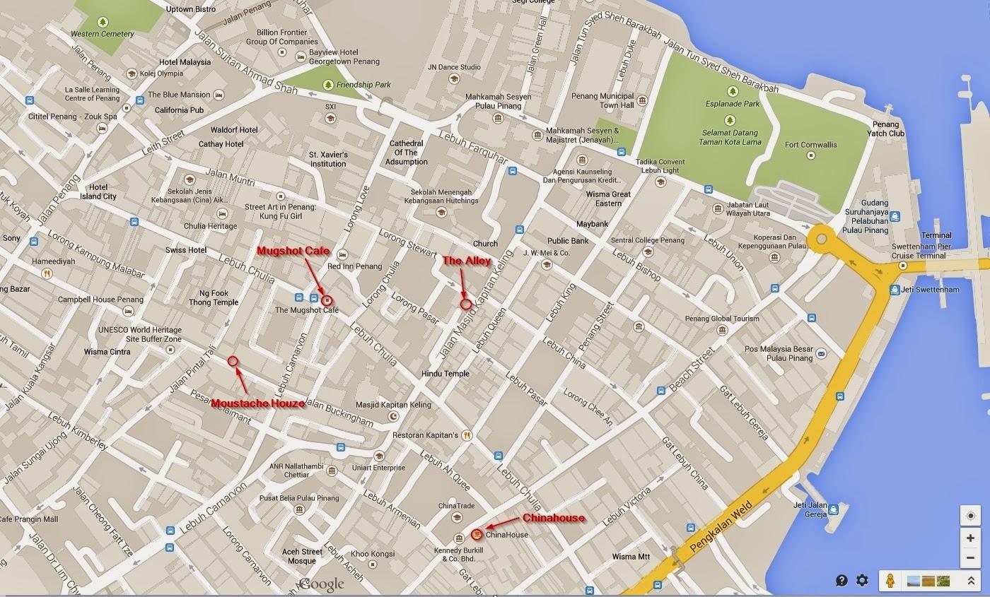 Cafe Penang Map