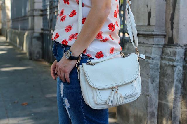 photo sac blanc pompons