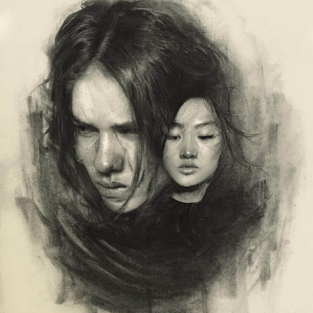 03-A-voice-inside-Charcoal-and-Graphite-Portrait-Drawings-www-designstack-co