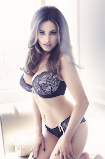 Kelly Brook for New Look, Black & Cream Underwear set