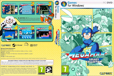 Jogo Mega Man Legacy Collection PC DVD Capa