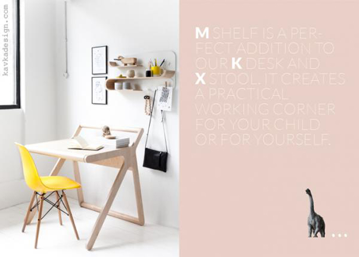 Rafa-kids desk with shelf M in lookbook 2016