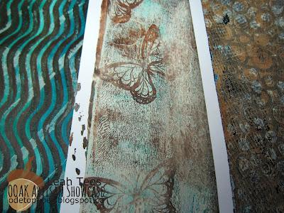 Gelli Plate Ode to Paper Leah Tees OOAK Artisans