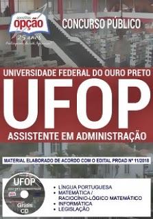 Apostila concurso UFOP 2018 Assistente em Administração