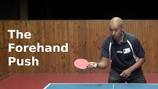 Forehand Push dalam teknik pukulan tenis meja