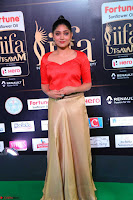 Samyukta Hamod in Red Crop top Brown Skirt at IIFA Utsavam Awards 003.JPG