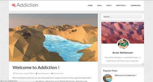 Addiction Blogger Template