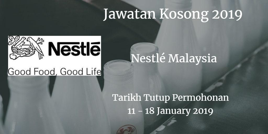 Jawatan Kosong Nestlé Malaysia 11 - 18 January 2019