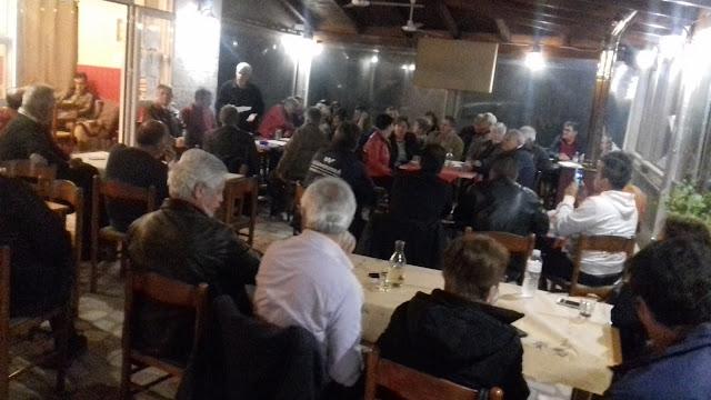 Πρέβεζα: Με επιτυχία πραγματοποιήθηκε την Παρασκευή 19/4 η ομιλία της Λαϊκής Συσπείρωσης στο Μύτικα στην Πρέβεζα