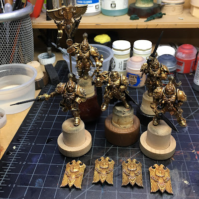 Adeptus Custodes WIP Final Highlights