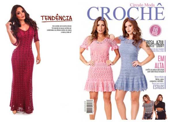 vestido, crochet,revista círculo, patrones para crochet, blogspot