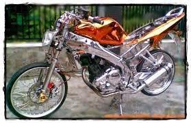 modifikasi motor yamaha vixion bikin drag terlengkap