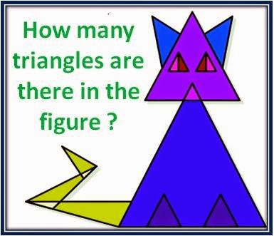how many triangles you can find in this CAT?