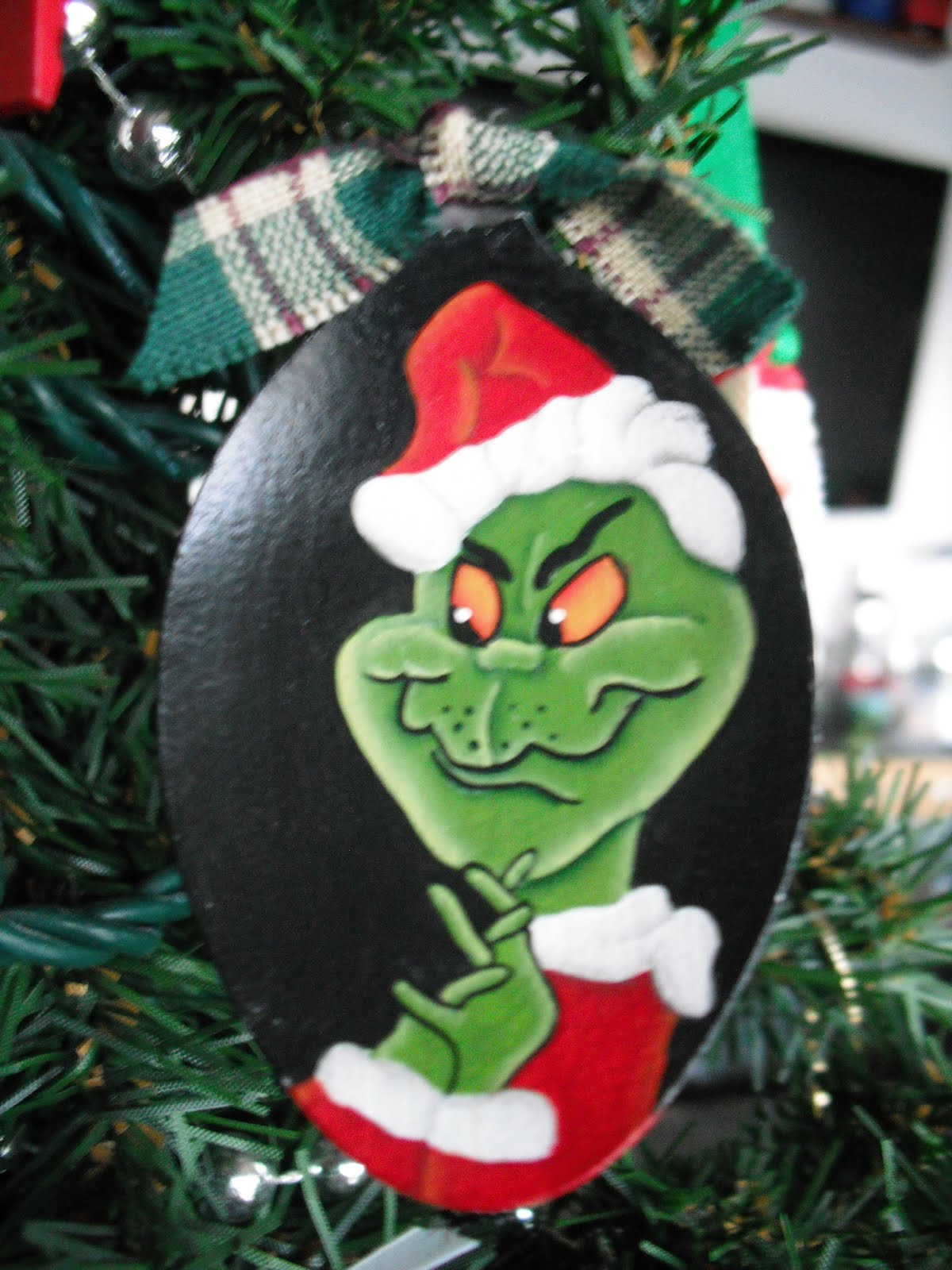 Cyndimac S Nick Knacks Grinch Spoon Ornaments