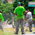 Detentos da José Maria Alkimin trabalham na limpeza das ruas de Santa Luzia
