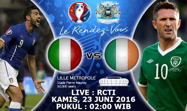 LIVE SCORE EURO: Hasil Italia vs Irlandia Prediksi Skor dan Jadwal Piala Eropa 2016 RCTI