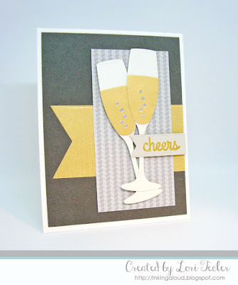 Cheers card-designed by Lori Tecler/Inking Aloud-stamps and dies from My Favorite Things