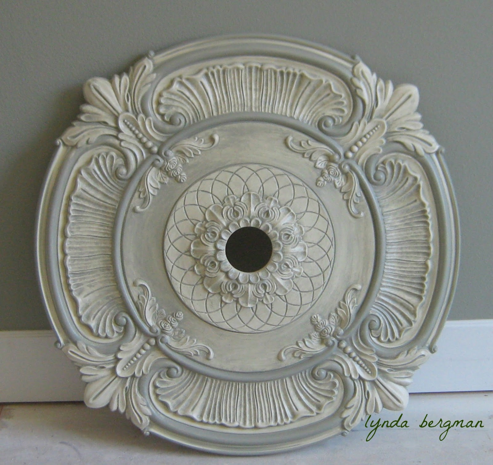 They Got This Beautiful Large Ceiling Medallion For The Dining Room And Said Maybe I Could Paint It To Match Cabinets Nearby