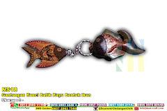 Gantungan Kunci Batik Kayu Bentuk Ikan