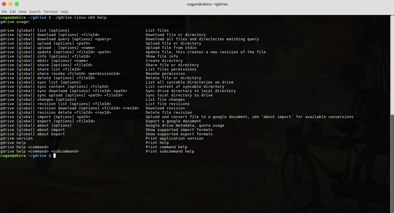 Memasang Google Drive Cli Di Ubuntu
