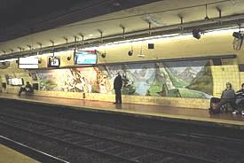Mural estación Pichincha subte E